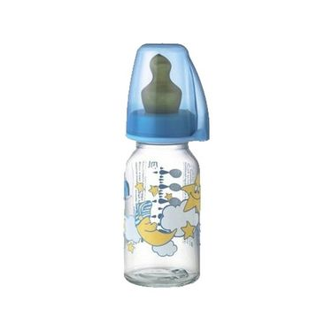 Nip Glass 125 ml Sleepy with vented silicone teat for tea (S)