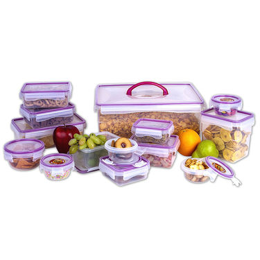 Princeware 14 Pcs Click & Seal Container Set