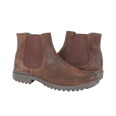 Delize Suede Leather Boot 2410-Brown