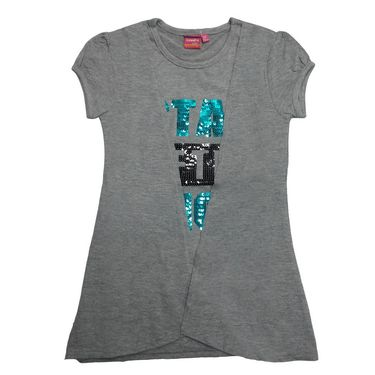 Tomato 24 Grey Casual T-Shirt for Girl's