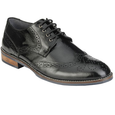 Delize Leather Formal Shoes 27073-Black