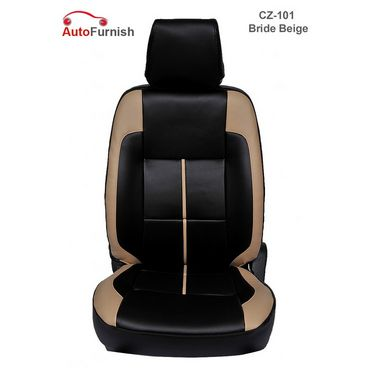 Autofurnish (CZ-101 Bride Beige) Honda Civic (2006-14) Leatherite Car Seat Covers-3001081