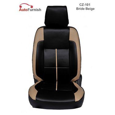 Autofurnish (CZ-101 Bride Beige) Mahindra Scorpio 8S Leatherite Car Seat Covers-3001121