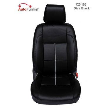 Autofurnish (CZ-103 Diva Black) Toyota Fortuner Leatherite Car Seat Covers-3001696