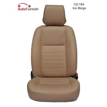 Autofurnish (CZ-104 Ice Beige) Honda Jazz Leatherite Car Seat Covers-3001774