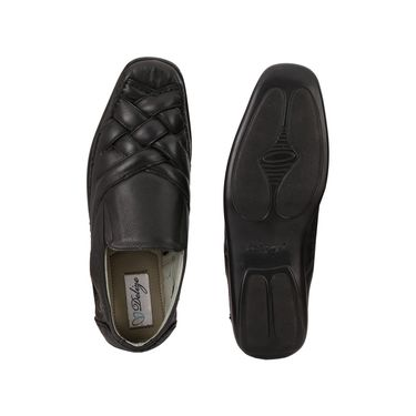Delize Leather Sandals 3006-Black