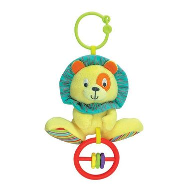 Winfun Caesar Lion Hand Rattle Squeaker Crinkle Sound Multi Color