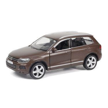 RMZ Volkswagen Touareg Matte Brown Pullback Diecast Toy Car