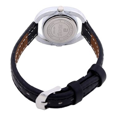 Adine Round Dial Analog Wrist Watch For Women_40bb015 - Black