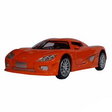 1:28 Scale Orange Die-Cast Retro Concept Sports Car Toy Model