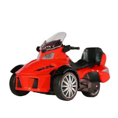 3-Wheel ATV Die Cast Metal Bike Toy For Growing Kids - Red