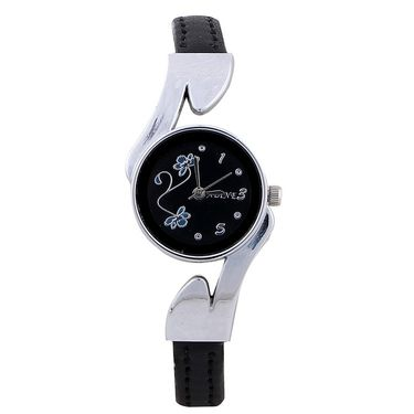 Adine Round Dial Analog Wrist Watch For Women_52bb032 - Black
