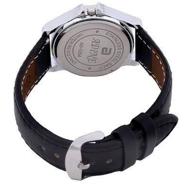 Adine Round Dial Analog Wrist Watch For Women_54bb036 - Black