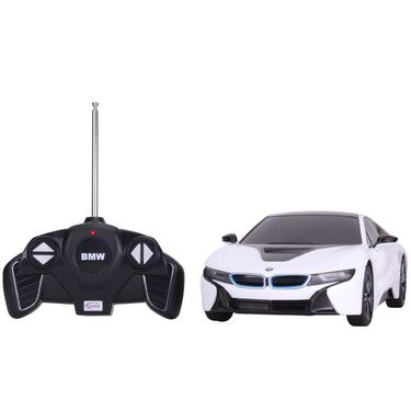 R/C 1:18 BMW i8 Toy Car - White