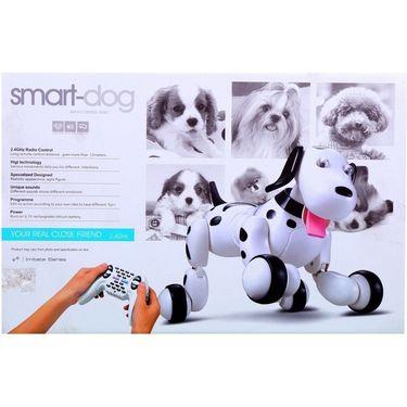 Smart Interactive RC Robo Dog - Pink & White