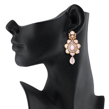 Vendee Fashion Stylish Earrings - White