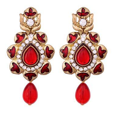 Vendee Fashion Stylish Earrings - Red