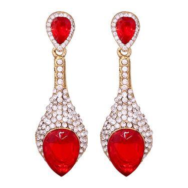 Vendee Fashion Stylish Earrings - Red