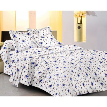 Set of 3 Double Bed Sheet with 6 Pillow covers   -913A450-601-581
