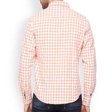 Crosscreek Full Sleeves Cotton Casual Shirt_304 - Orange