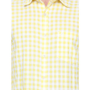 Crosscreek Full Sleeves Cotton Casual Shirt_305 - Yellow