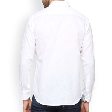 Crosscreek Full Sleeves Cotton Casual Shirt_316 - White