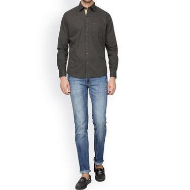 Crosscreek Full Sleeves Cotton Casual Shirt_320 - Grey