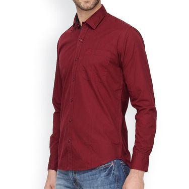 Crosscreek Full Sleeves Cotton Casual Shirt_322 - Maroon