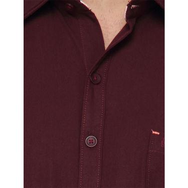 Crosscreek Half Sleeves Cotton Casual Shirt_326 - Maroon
