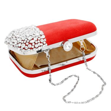 Arisha Velvet Sling Bag AE17b  -Red