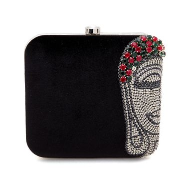 Arisha Velvet Sling Bag AE18b  -Black