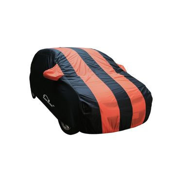 Autofurnish Stylish Orange Stripe Car Body Cover For Hyundai Verna Fluidic-AF21136