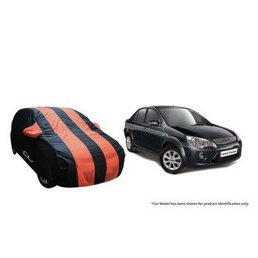 Autofurnish Stylish Orange Stripe Car Body Cover For Ford Fiesta Classic -AF21160