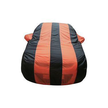 Autofurnish Stylish Orange Stripe Car Body Cover For Nissan Micra Active -AF21164