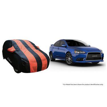 Autofurnish Stylish Orange Stripe Car Body Cover For Mitsubishi Pajero Sport -AF21166