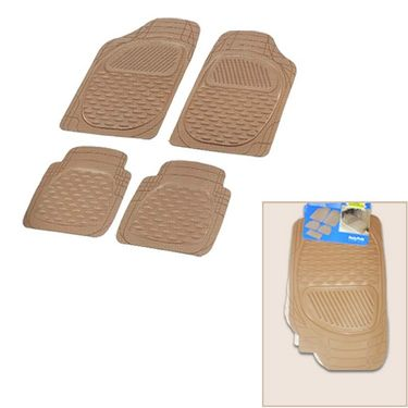 Autofurnish (Imported) Universal Car Floor Mats (Beige) Set of 4