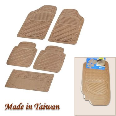 Autofurnish (Imported) Universal Car Floor Mats (Beige) Set of 5