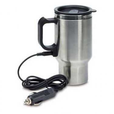 Double Wall Stainless Steel Travel Mug 12V Electric Heated Travel Flask-AF975