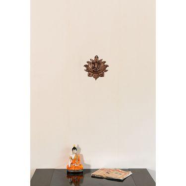 eCraftIndia Metal Wall Hanging of Lord Ganesha on Lotus-AGG524