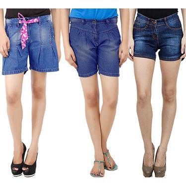 Pack Of 3 Uber Urban Denim Shorts-UB-08