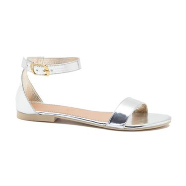 Aleta Synthetic Leather Womens Flats Alwf0216-Silver