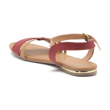 Aleta Synthetic Leather Womens Flats Alwf1016-Red