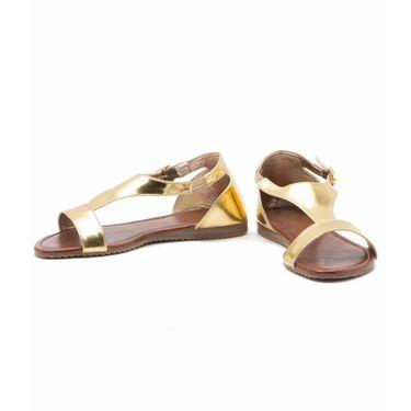 Aleta Synthetic Leather Womens Flats Alwf1116-Gold