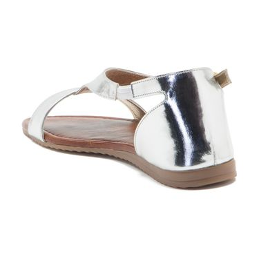 Aleta Synthetic Leather Womens Flats Alwf1116-Silver