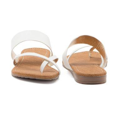 Aleta Synthetic Leather Womens Flats Alwf1216-White