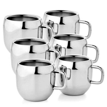 Aoito Double Wall Apple Set of 6 Stainless Steel Mug_APP-6-AO