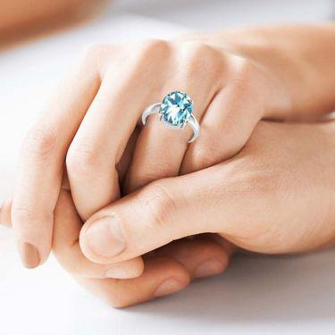 Kiara Jewellery Certified Aquamarine 3.0 cts & 3.25 Ratti Aquamarine Ring_Aqrw