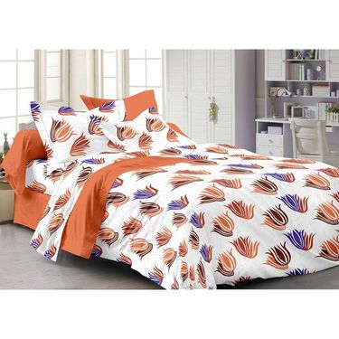 Storyathome  Cotton White 1 Double Bedsheet With 2 Pillow Cover-AR1216