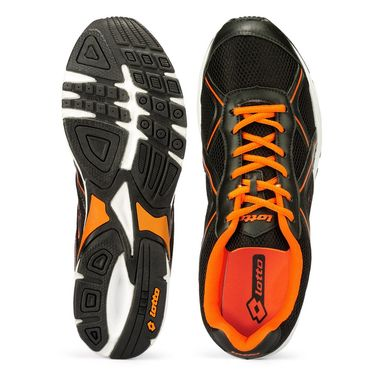 Lotto Black & Orange Sports Shoes -AR3262