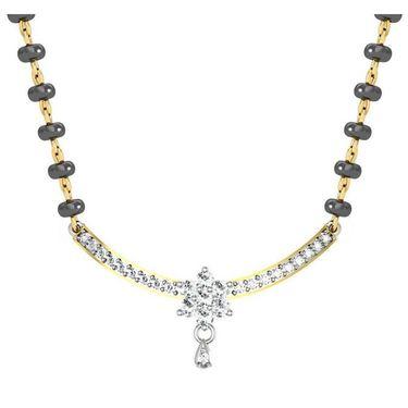 Avsar Real Gold & Swarovski Stone Shimla Mangalsutra_Avm026yb